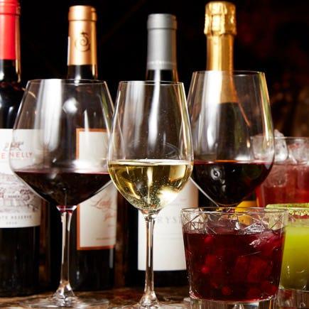 ソムリエ厳選のワインは全50種類以上