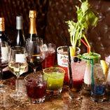 ソムリエ厳選のワイン50種やサングリア、カクテルなど料理に合わせて選べるよう多彩なドリンクをご用意