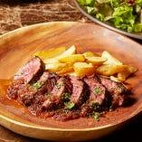 [ランチ]牛ハラミのステーキ オニオンソース