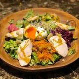 自家製チキンハムのパワーサラダ