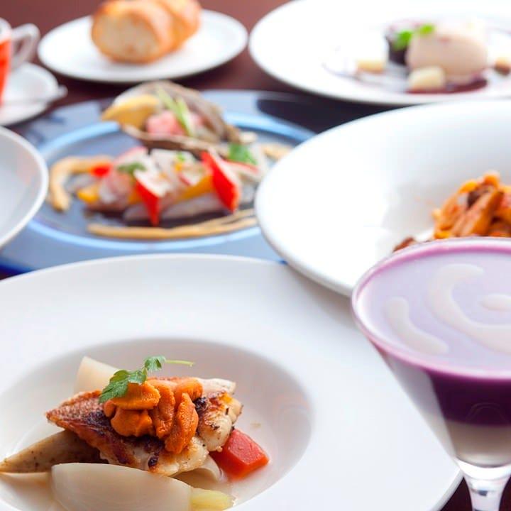 中央市場より仕入れる旬の食材を使った 本格イタリアンコース
