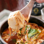 【名物】京豆腐のチゲ 絶対のおすすめメニューです!