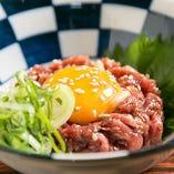 ユッケ 大仙伝統の味 もも肉を使用した赤身ユッケ