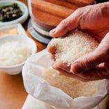 お米マイスターが選びぬいたお米を使用しています。主に徳島などの良質なこしひかりを厳選。