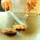 国産天然アワビのステーキ