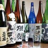 地酒多数取り揃えております。珍しいお酒にも出会えるかも!