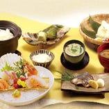 鮮魚のお造りと焼き魚御膳