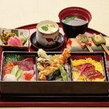 旬の味わい 月替わりの季節の潮彩三味膳