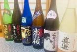 女将自ら気に入った日本酒を置いてます。 出荷限定品が多数有り