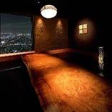 圧巻の夜景個室席☆ 全席個室でのおもてなしをお約束。