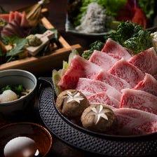 【特選黒毛和牛のすき焼きコース】鮮魚四点盛がついた大サービスコース(全8品)2h飲放付