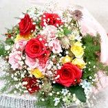 大事な方への花束プレンゼント ご用意いたします。