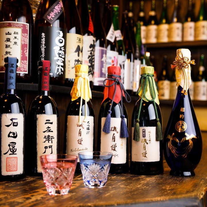 イケてる地酒は常時約150銘柄以上