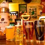 【ビール】 ビール好き必見!常時5~6種ドラフトビールをご用意