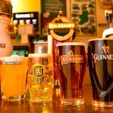 海外の樽生ビールや日本の地ビールも