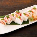 ズワイガニの棒寿司
