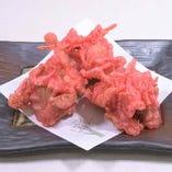 鶏肉の紅生姜天