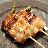 豚アスパラ串/豚サガリ串/豚ホルモン/豚舌串
