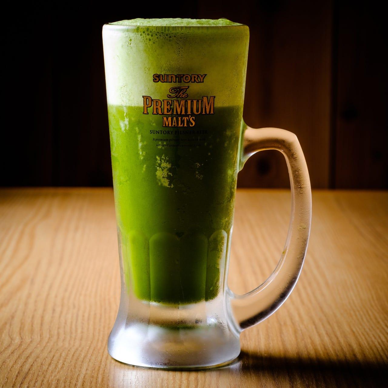 抹茶×ビール】美味しい♪♪こだわりの抹茶を使用した抹茶ビール