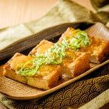 厚揚げの味噌マヨ