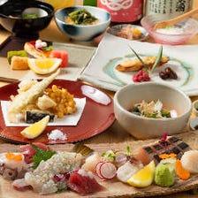 【先付けからデザートまで全8品 季節食材を使用した創作和食】和っかコース(4,000円)