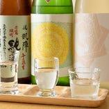 人気の日本酒飲み比べ