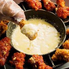 【新プラン】フライドチキンにチーズを絡めて★キンパ、チヂミも♪『チョアチキコース』