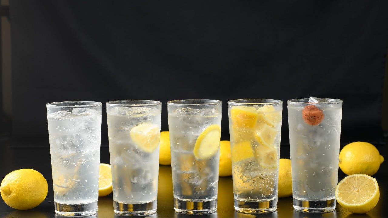 ぎゅっと濃いレモンのパンチサワー