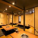 個室は最大34名様まで。一体感ある空間で宴会や打ち上げをどうぞ