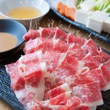 桜肉のしゃぶしゃぶコース☆