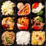F.白身魚の甘酢あんかけ・鶏とカシューナッツ炒め弁当