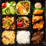 E.牛肉のオイスターソース炒め・マーボー豆腐弁当