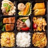 C.牛肉の黒胡椒炒め・豚角煮弁当