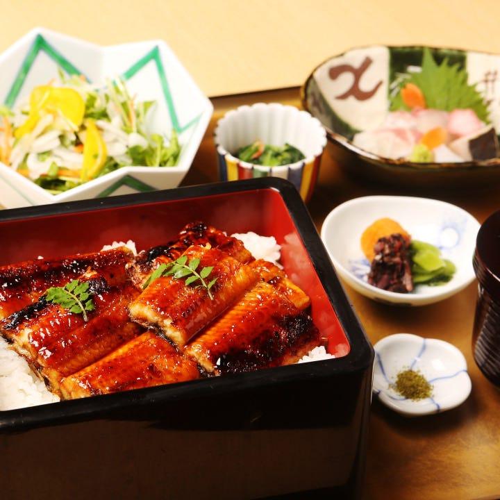 5食限定!お造りも付いた鰻蒲焼重御膳はぜひ食すべき一品です