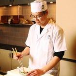 【料理長】 京都で修業後、岡山の日本料理店で10年修業