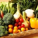 新鮮野菜をふんだんに使用