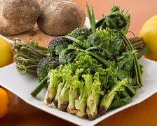 四季折々の野菜の美味しさを味わえる