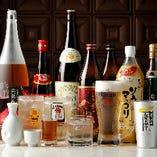 飲み放題コースは生ビールなど30種類以上のドリンクをラインナップ