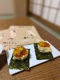 半熟たまごの天ぷらにいくらと雲丹をトッピングした一品です!