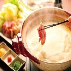 比内地鶏水炊き鍋*〆がセットで付きます。