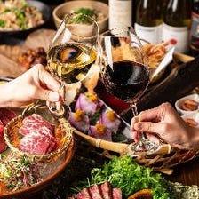宴席を彩る自慢の鉄板焼きと季節料理
