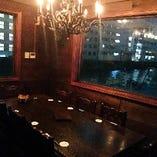 【2階】接待にも最適な夜景の見えるVIP個室(6~8名様)