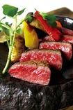 九州産和牛の鉄板ステーキ