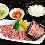 プレミアムカルビ牛タン定食