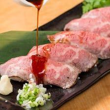 週末OK!!今だけ限定無制限飲み放題◎肉寿司食べ放題コース全8品3980円⇒2980円