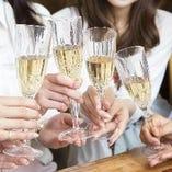 2時間飲み放題付きコース♪女子会や季節の宴会にも◎