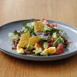 プルドポークとアボカドのメキシカンサラダ