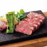 ◆炭火焼ステーキ◆ 備長炭で焼いたジューシーな牛ステーキ!