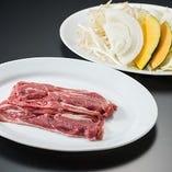 ラムジンギスカン・焼き野菜セット
