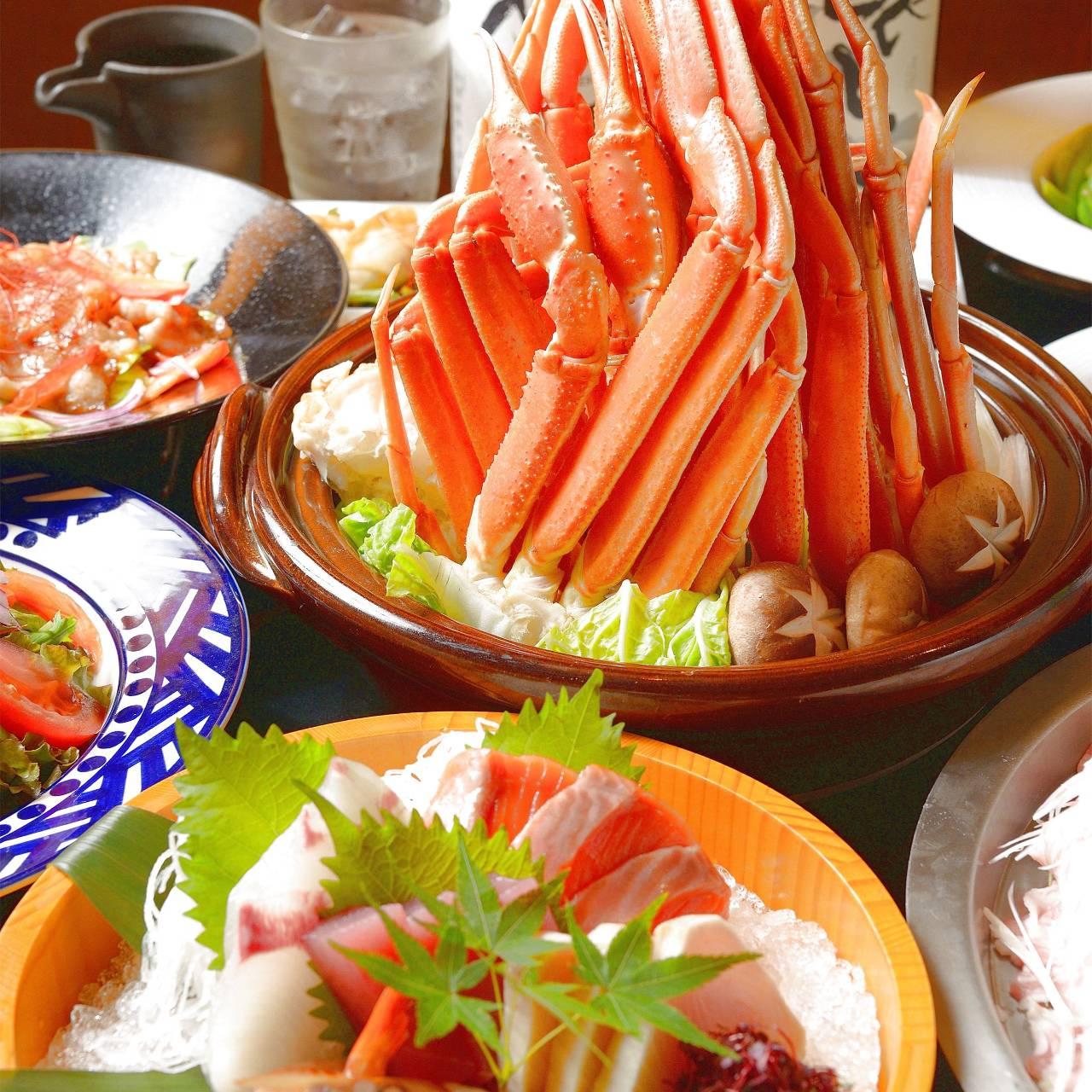 蟹すき鍋含む100品以上食べ飲み放題